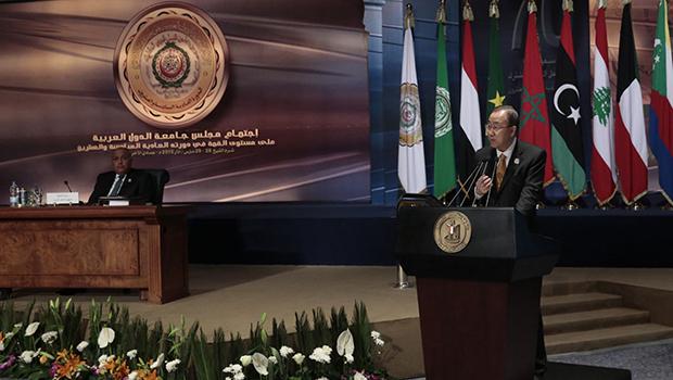 صورة انعقاد القمة العربية وعاهل السعودية يؤكد استمرار الحرب على اليمن