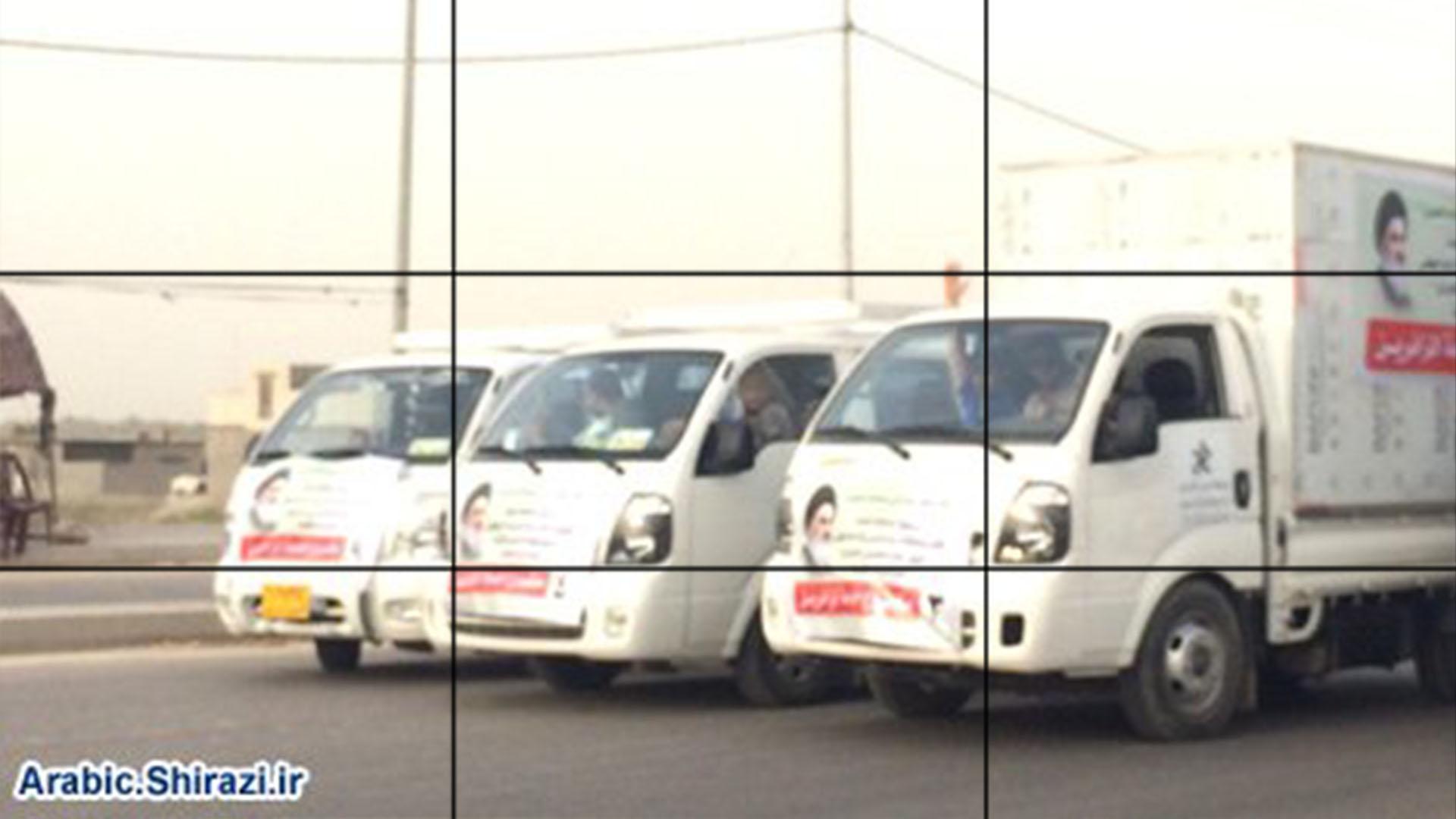 صورة قافلة توزيع الاشربة والاطعمة على المواكب الحسينية