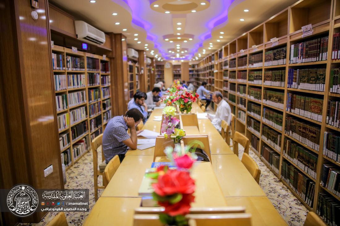 صورة تقرير مصور: اقبال واسع على مكتبة الروضة الحيدرية المطهرة