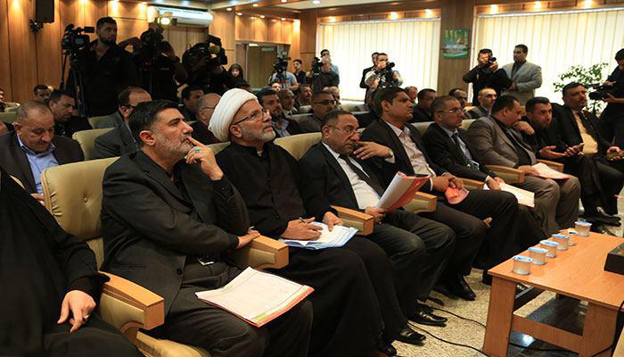 صورة العتبة الحسينية المقدسة تعقد مؤتمرا صحيا وخدميا خاصا بزيارة اربعينية الإمام الحسين