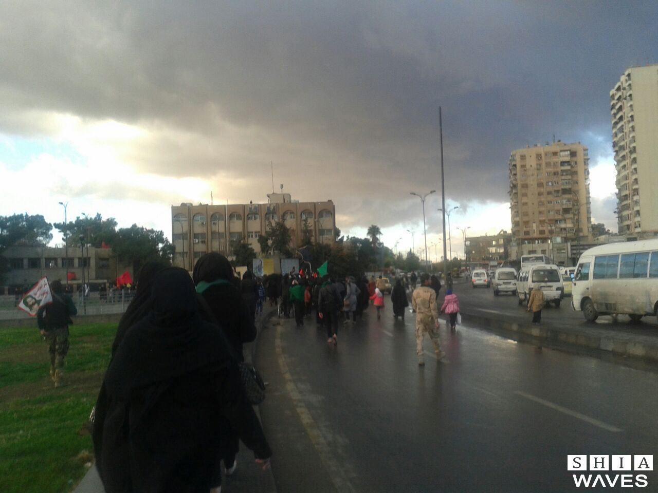 صورة تقرير مصور: موكب الحوزة الزينيبية التابعة للمرجعية الشيرازية في العاصمة السورية دمشق
