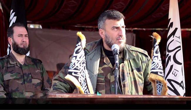 صورة مقتل متزعم جيش الإسلام زهران علوش بغارة جوية قرب دمشق
