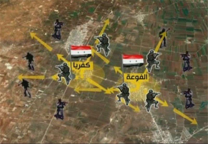 صورة استهدافات إرهابية متكررة لبلدتي كفريا والفوعة المحاصرتين و الجيش السوري يسيطر على منطقة الفضائية بالغوطة