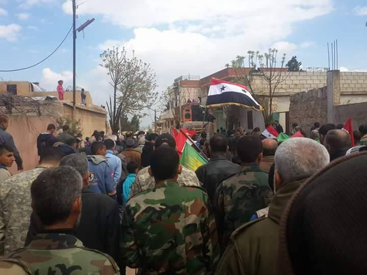 صورة تقرير مصور: تشييع  3 مواطنين بينهم إمرأة في بلدة الفوعة سقطوا بنيران المجموعات التكفيرية