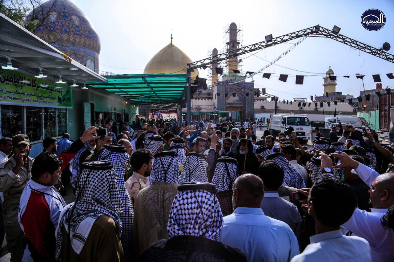 Photo of تقرير مصور: توافد حشود الموالين صوب مرقد العسكريين في سامراء