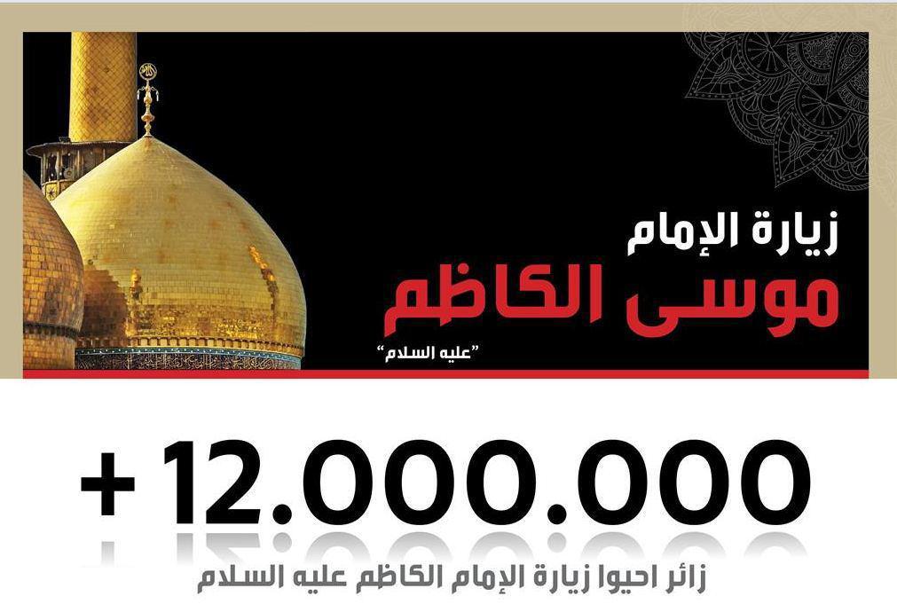 صورة 12 مليون زائر يحيون زيارة الإمام موسى الكاظم عليه السلام