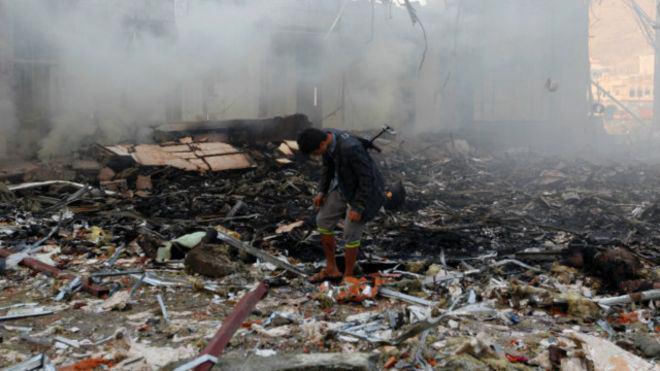 صورة اشتداد الغارات في اليمن مع تجاهل دعوة الأمم المتحدة لهدنة