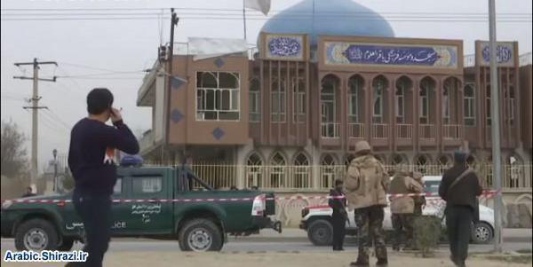 صورة مكتب المرجع الشيرازي يصدر بيانا يسنتكر فيه العدوان التكفيري على جامع باقر العلوم بكابول