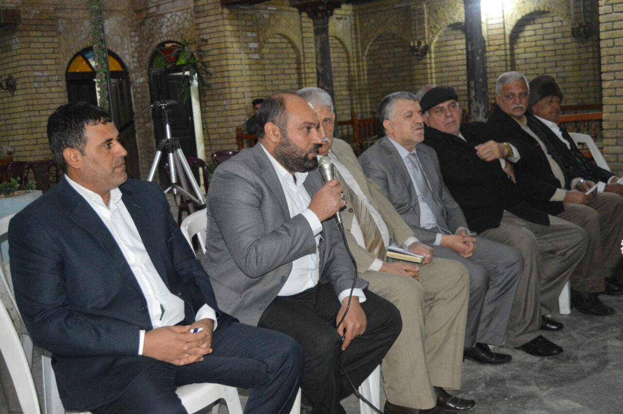 صورة مكتب المرجعية الشيرازية في بغداد يشارك في ندوة ثقافية لجمعية النهوض الفكري العراقية