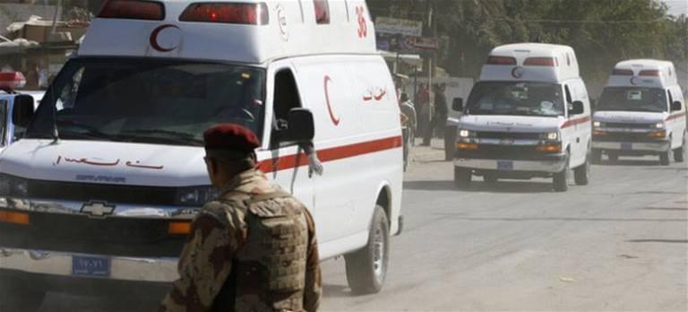 صورة استشهاد شخص وإصابة أربعة بانفجار ناسفة قرب سوق شعبية شرقي بغداد