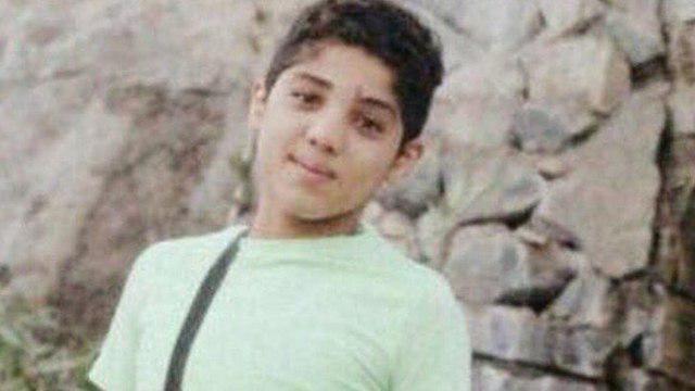 صورة عائلة الطفل المعتقل حيدر الملا تشكو من تعريضه للتعذيب في سجن الحوض الجاف في البحرين