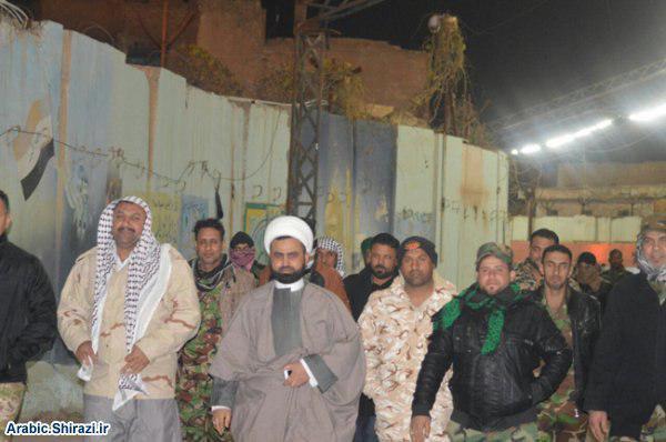 صورة برعاية أحد وكلاء المرجع الشيرازي في محافظة البصرة انطلاق حملة الوفاء لدعم الحشد الشعبي والقوات الأمنية الغيارى