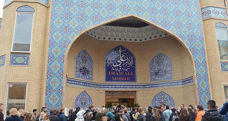 صورة إفتتاح دار القرآن الكريم في مسجد الإمام علي عليه السلام في الدنمارك