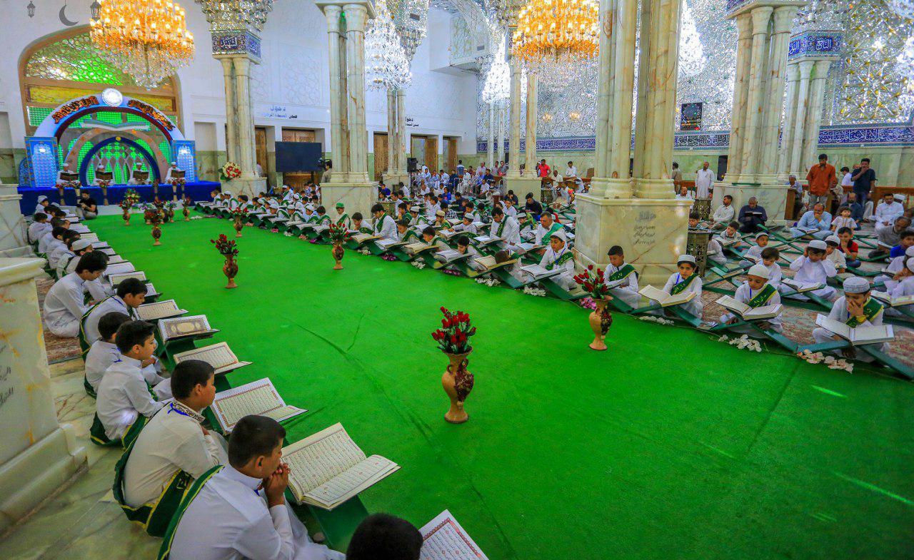 صورة بالصور – العتبة العلوية المقدسة تقيم ختمة قرآنية خاصة للاطفال خلال شهر رمضان المبارك