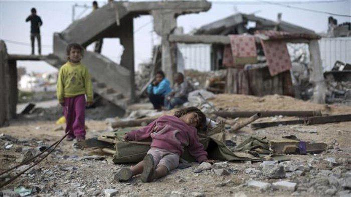 صورة التلفزيون الرسمي المصري: السعودية ارتكبت مجازر في اليمن وقتلت 270 الف يمني