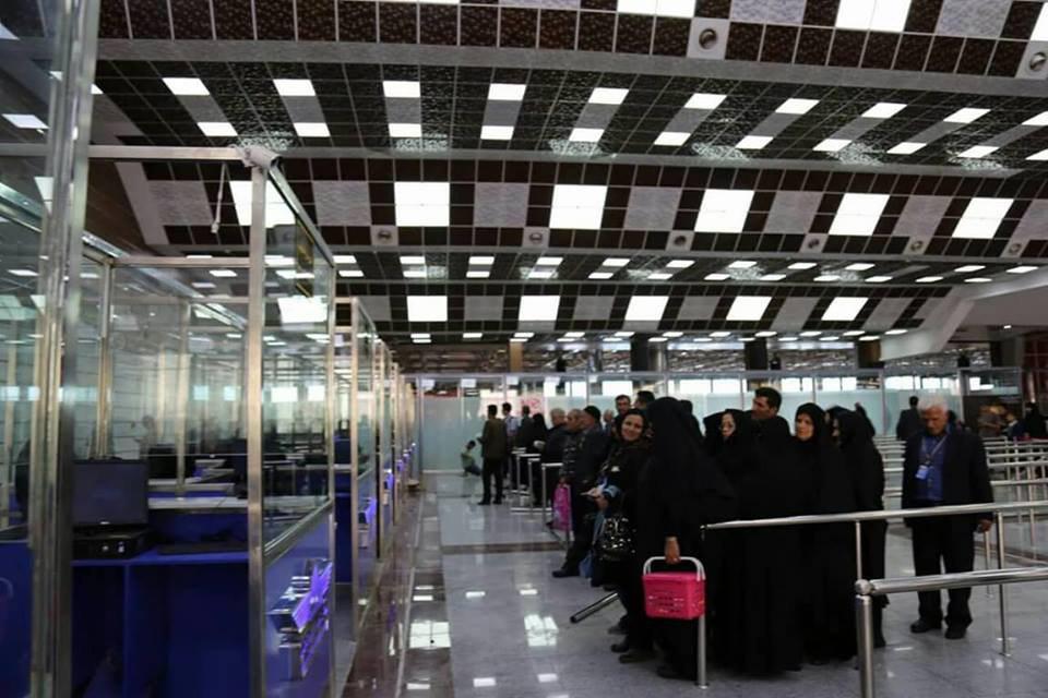 صورة مطار النجف يفتتح كاونترات مزدوجة اضافية لتسهيل اجراءات دخول المسافرين القادمين خلال زيارة الاربعين