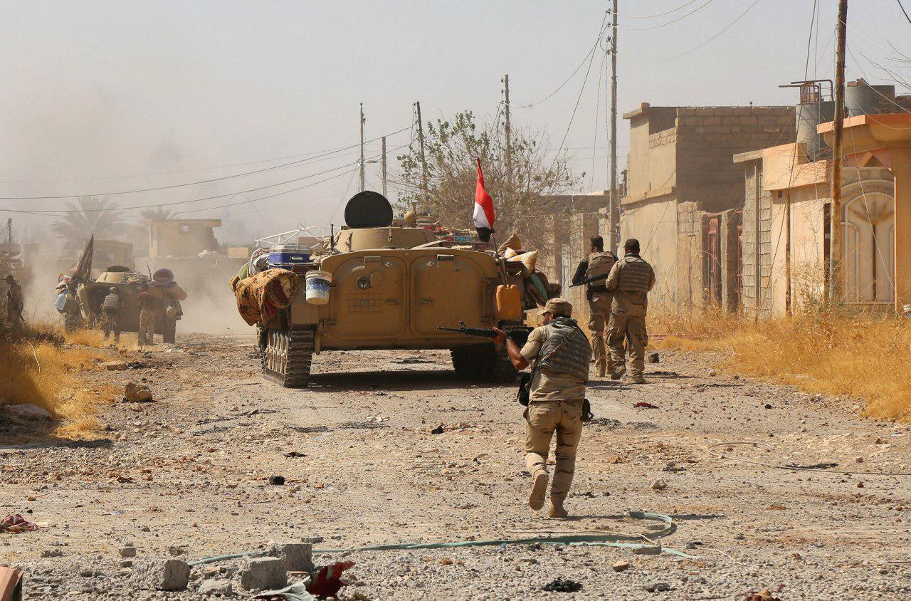 صورة يار الله يعلن انتهاء مهام عمليات تحرير مدينة الحويجة العراقية