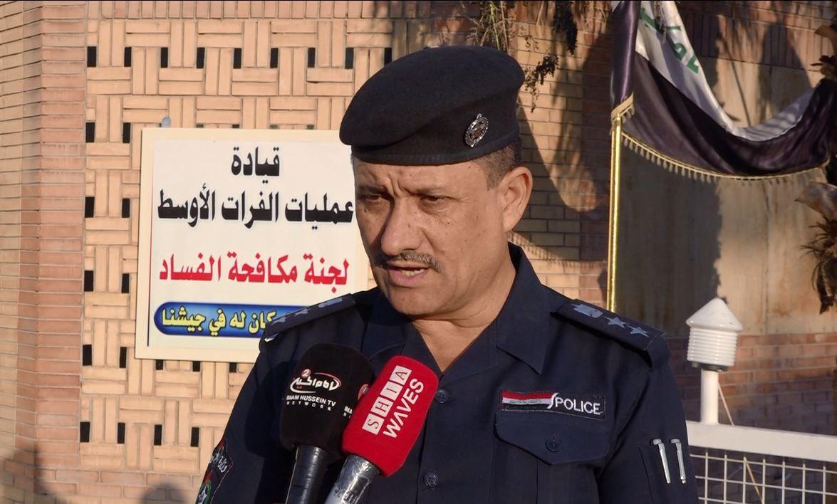 صورة شرطة كربلاء: الخطة الامنية الخاصة بزيارة الاربعين مستمرة حتى عودة اخر زائر الى داره