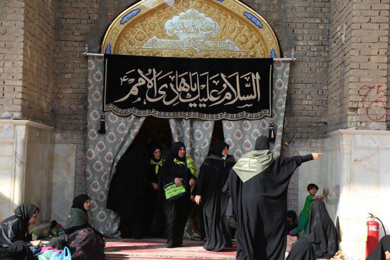 صورة قسم الشؤون النسوية في العتبة العسكرية المقدسة يستنفر كوادره لخدمة زوار المرقد الشريف