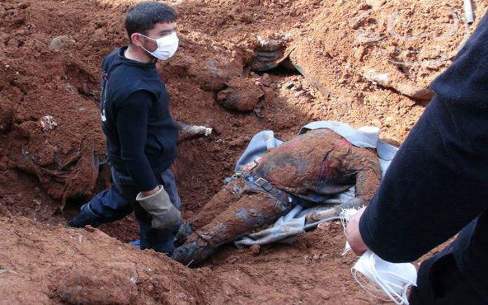 صورة العراق: العثور على مقبرة جماعية تضم رفات 40 مغدوراً قتلهم داعش الارهابي في هيت