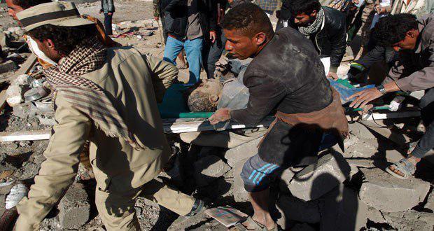 صورة استشهاد 23 يمنيا بغارات طيران العدوان السعودي