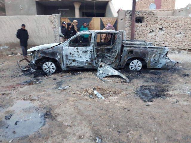 صورة استشهاد وإصابة 20 شخصا بقصف للطيران الأميركي على ناحية البغدادي غرب الانبار + صور
