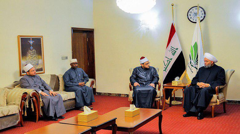صورة رئيس جماعة علماء العراق: نشكر العتبة الحسينية على استضافتها وفداً من علماء الازهر ومشايخ الاوقاف المصرية