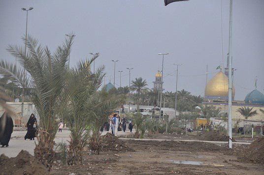 Photo of امانة مزار الصحابيّ ميثم التمار تباشر بزراعة اشجار النخيل في مدينة الكوفة المقدسة