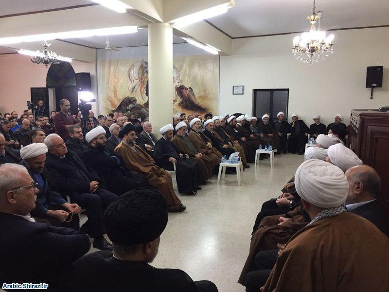 صورة مكتب المرجع الشيرازي في بيروت يشارك بمجلس ذكرى شهادة السيدة الزهراء في دار الإفتاء الجعفري بصيدا