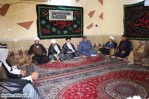صورة مسؤول العلاقات العامة لمكتب المرجعية الشيرازية يلتقي زعماء عشائر كربلاء المقدّسة