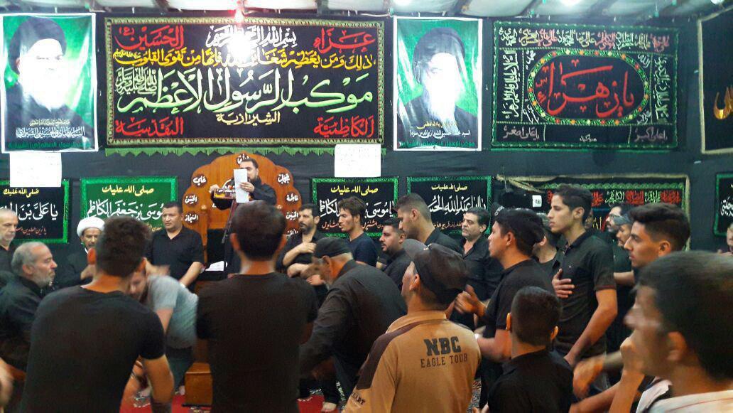 صورة موكب الرسول الأعظم يواصل تقديم خدماته لزائري الإمام الكاظم عليه السلام (صور)