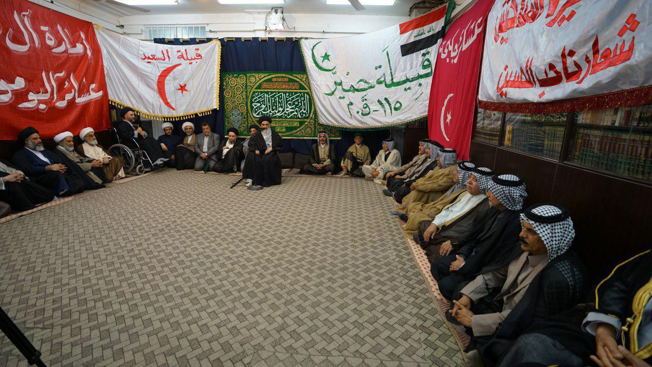 صورة المرجع الشيرازي يدعو العراقيين الى توحيد الكلمة ورص الصفوف