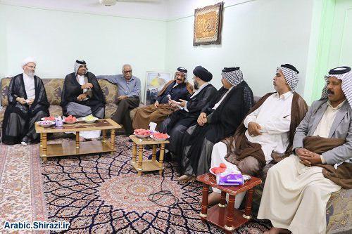 صورة العلاقات العامة للمرجعية الشيرازية تبحث مع شيوخ عشائر كربلاء المقدسة  مشاكل العراق الحالية