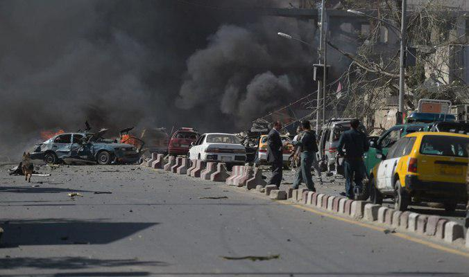 صورة انفجاران وسط العاصمة الأفغانية كابل