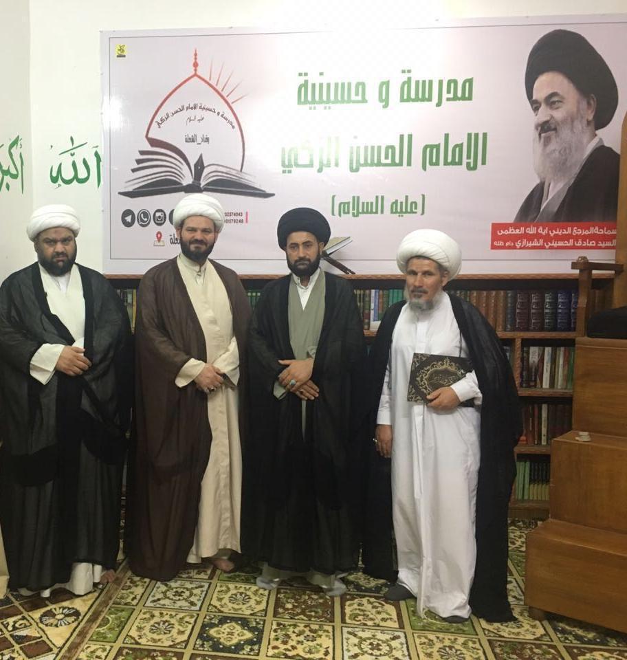 Photo of وفد من وكلاء المرجع الشيرازي في البصرة يزور العديد من المؤسسات الدينية والثقافية في بغداد