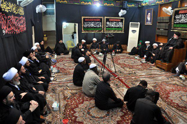 Photo of ابتداء مجالس العزاء الحسيني السنوي في مكتب المرجع الشيرازي في كربلاء المقدسة