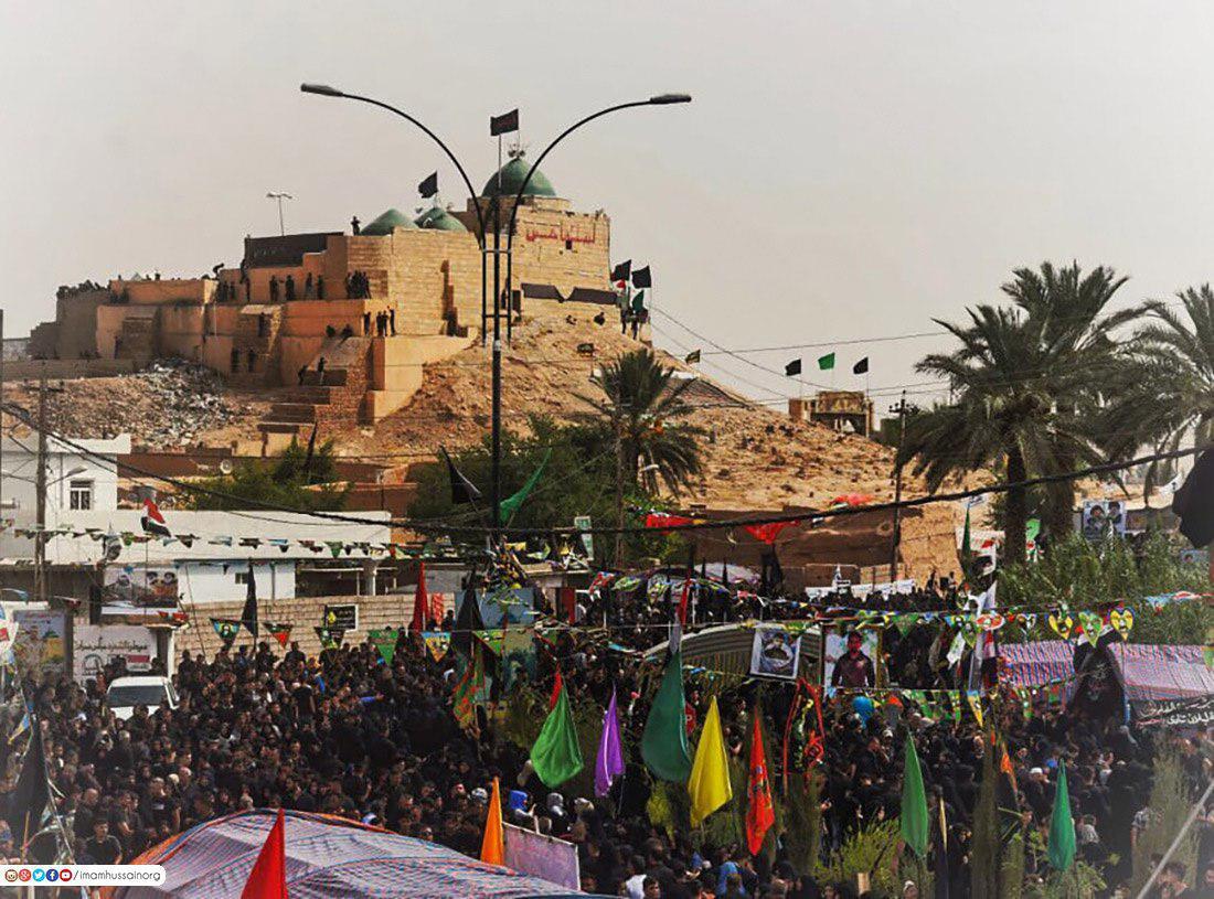 صورة بالصور.. قضاء في شمال العراق يتحدى داعش الارهابي في ذكرى استشهاد الامام السجاد