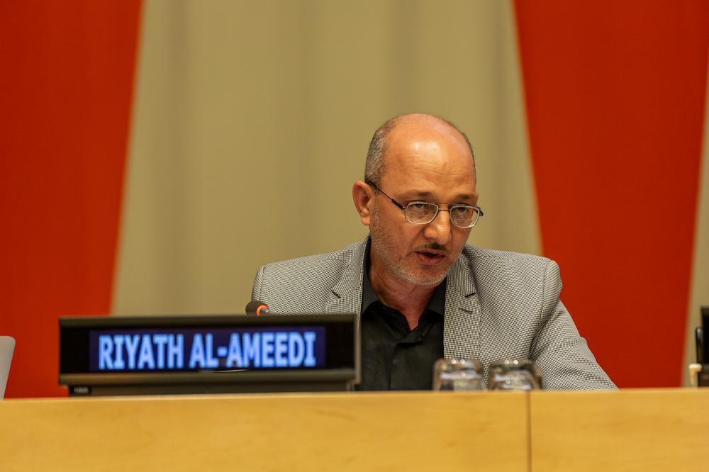 صورة العتبة العباسية تناقش في مبنى الامم المتحدة مبدأ التعايش السلميّ في القرآن الكريم