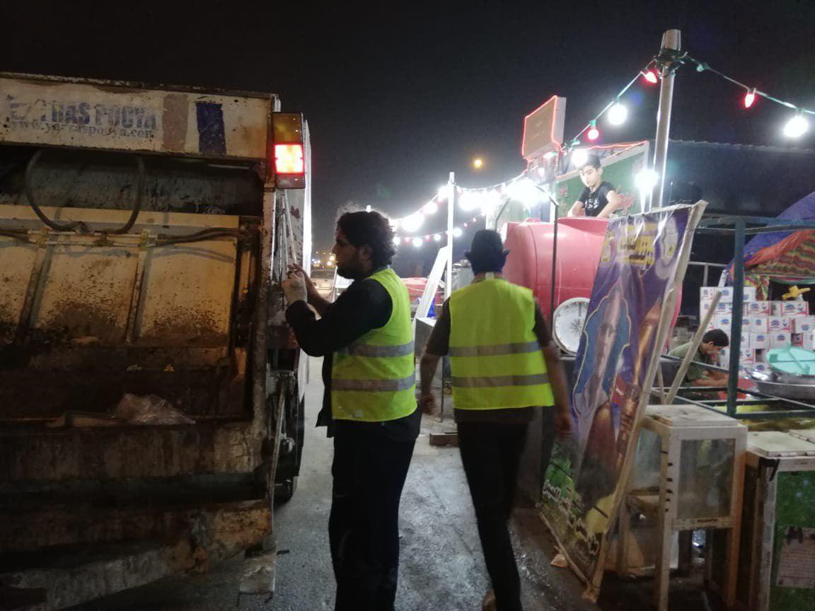 صورة بلدية كربلاء المقدسة تعلن مشاركة 3000 عامل تنظيف في زيارة الاربعين
