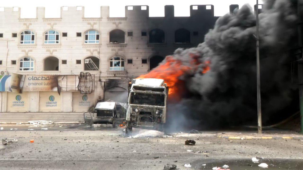 صورة ارتفاع حصيلة غارة للتحالف السعودي على الحديدة إلى 9 شهداء