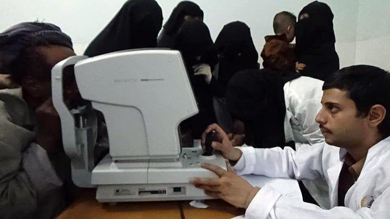 صورة مخيم نور الحسين عليه السلام الطبّي يشرع بتقديم خدماته المجانية في اليمن (صور)