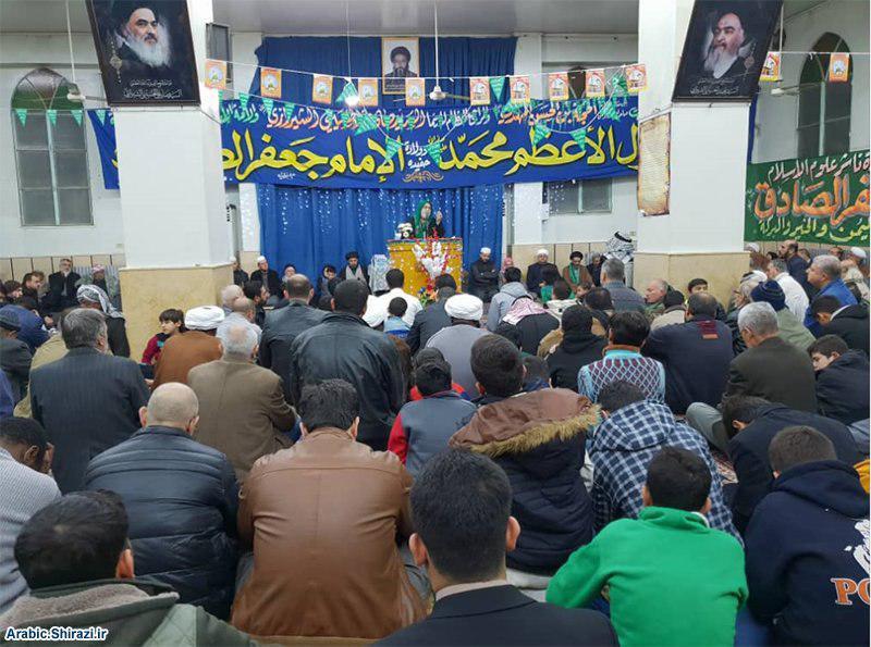 صورة احتفالات بمولد النبيّ الكريم والإمام الصادق في المراكز التابعة للمرجعية الشيرازية بدمشق وبيروت