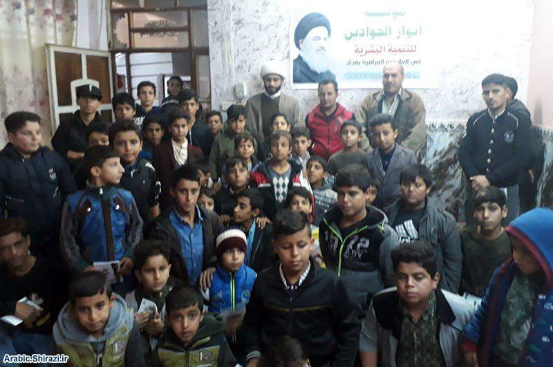 صورة مؤسسة أنوار الجوادين تحتفل مع الايتام بذكرى مولد النبي الكريم في بغداد