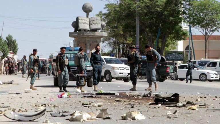 صورة قتلى وجرحى في هجوم لطالبان الارهابية شمال أفغانستان