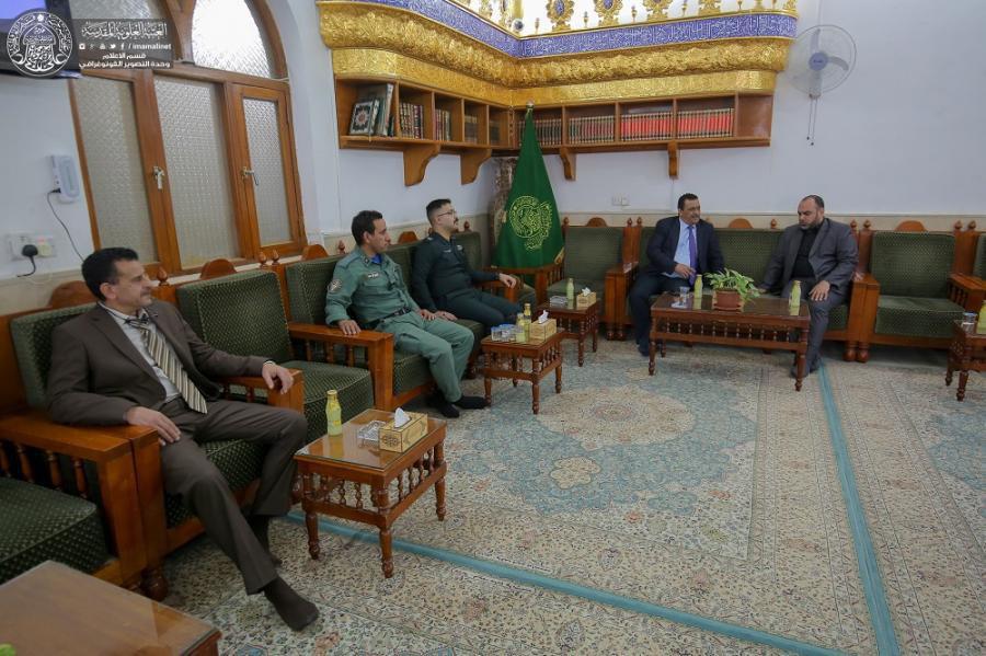 صورة السفير التونسي لدى العراق يتشرف بزيارة مرقد امير المؤمنين ويبدي إعجابه بمستوى المشاريع