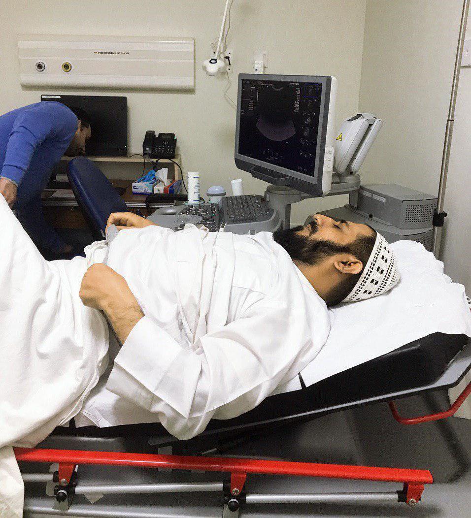 صورة تعرض مدير مجموعة الامام الحسين الاعلامية لوعكة صحية خطيرة