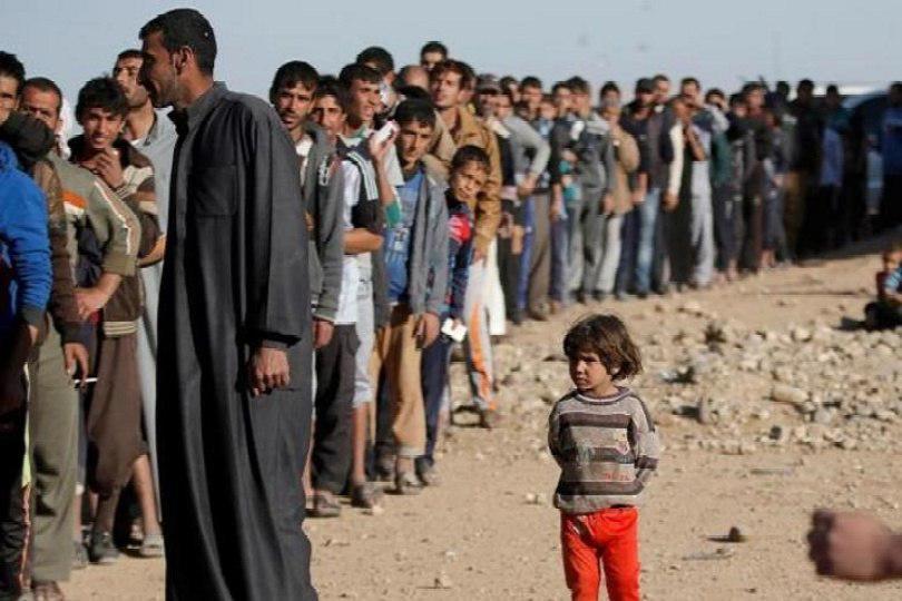صورة حقوق الانسان: المدائن تشهد كارثة انسانية ونزوح العوائل منها