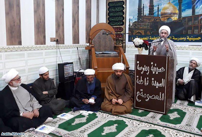 صورة وكيل المرجع الشيرازي يلتقي علماء وطلبة مدينة البصرة العراقية