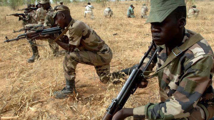 صورة مقتل 40 من بوكو حرام الارهابية في منطقة بحيرة تشاد