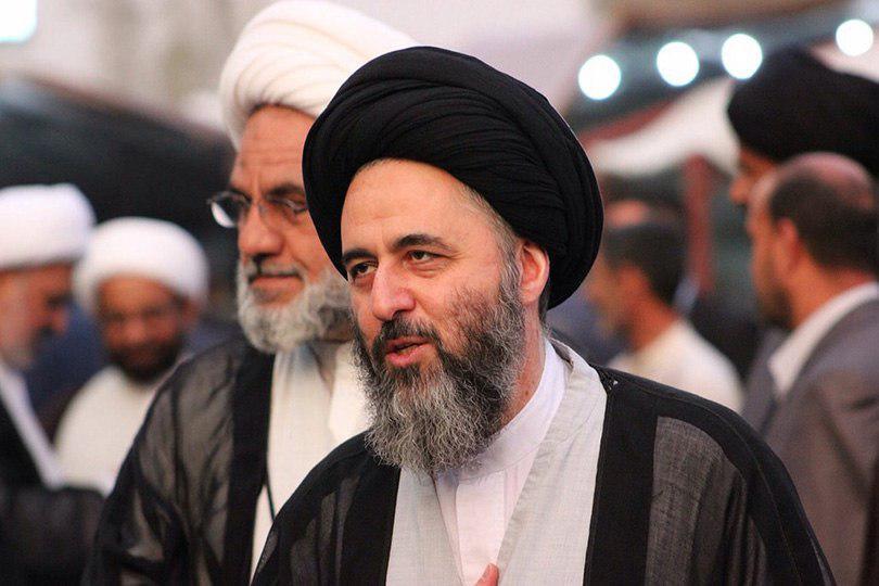 صورة صدور كتاب اهدِنَا الصّـِرَاطَ المُستَقِيمَ لسماحة اية الله السيد مرتضى الحسيني الشيرازي